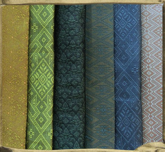 A variety of new patterns in Silk Jacquards.